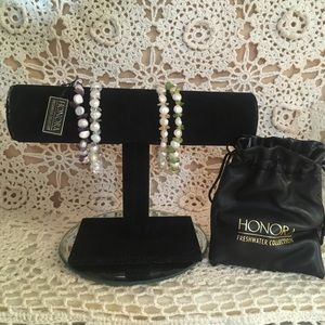 Vintage Honora Pearl bracelet set